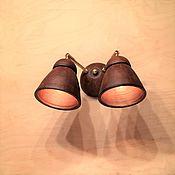 Для дома и интерьера ручной работы. Ярмарка Мастеров - ручная работа Настенный керамический светильник (бра) с двумя плафонами. Handmade.