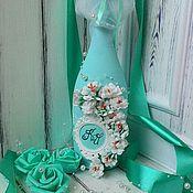 Сувениры и подарки ручной работы. Ярмарка Мастеров - ручная работа Оформление бутылок подарочных. Handmade.