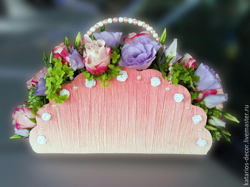 f7b6a8152f7e Сумочки с живыми цветами – купить в интернет-магазине на Ярмарке ...