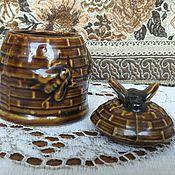 Винтаж handmade. Livemaster - original item reserve. Small jar of Bees. Handmade.