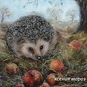 """Картины и панно ручной работы. Ярмарка Мастеров - ручная работа """"Последние яблочки"""". Handmade."""