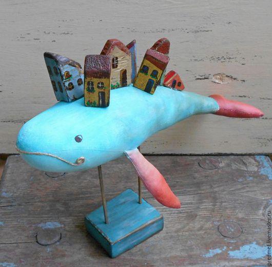 Коллекционные куклы ручной работы. Ярмарка Мастеров - ручная работа. Купить Чудо-Юдо рыба-кит. Handmade. Бирюзовый, кит