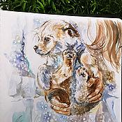 Картины и панно handmade. Livemaster - original item Pearl - painting on paper. Handmade.