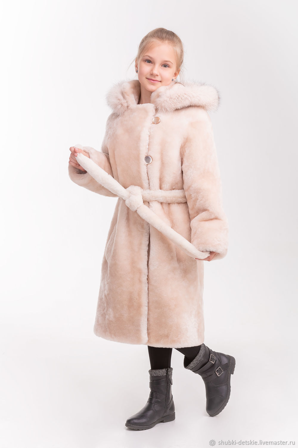 1eccfd8852a3 Outer Clothing handmade. Livemaster - handmade. Buy Mouton coat with belt.