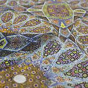 Материалы для творчества ручной работы. Ярмарка Мастеров - ручная работа Креп-шифон ETRO мелкий рисунок в стиле 70-х. Handmade.