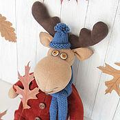 Куклы и игрушки ручной работы. Ярмарка Мастеров - ручная работа Лось в костюмчике. Интерьерная игрушка. Handmade.