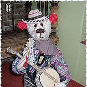 Мягкие игрушки ручной работы. Ярмарка Мастеров - ручная работа Игрушка из меха Текстильная игрушка Мягкая игрушка Медведь белый 49 см. Handmade.