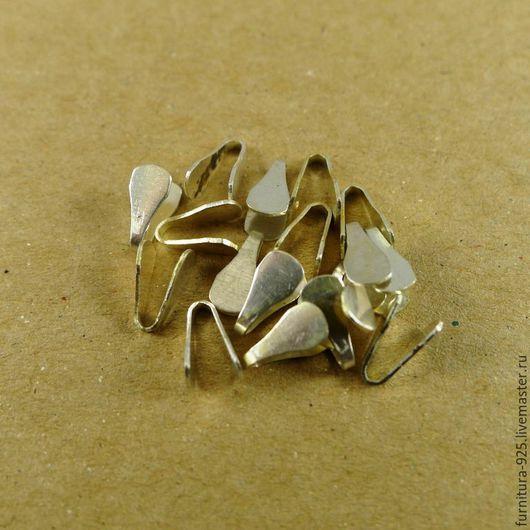Для украшений ручной работы. Ярмарка Мастеров - ручная работа. Купить Серебряные клеммы для цепей из стерлингового серебра 925 пробы. Handmade.