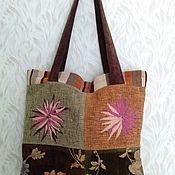 Пляжная сумка ручной работы. Ярмарка Мастеров - ручная работа Пляжная сумка: Текстильная сумка. Handmade.