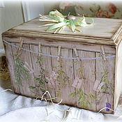"""Для дома и интерьера ручной работы. Ярмарка Мастеров - ручная работа Хлебница """"Травы"""". Handmade."""