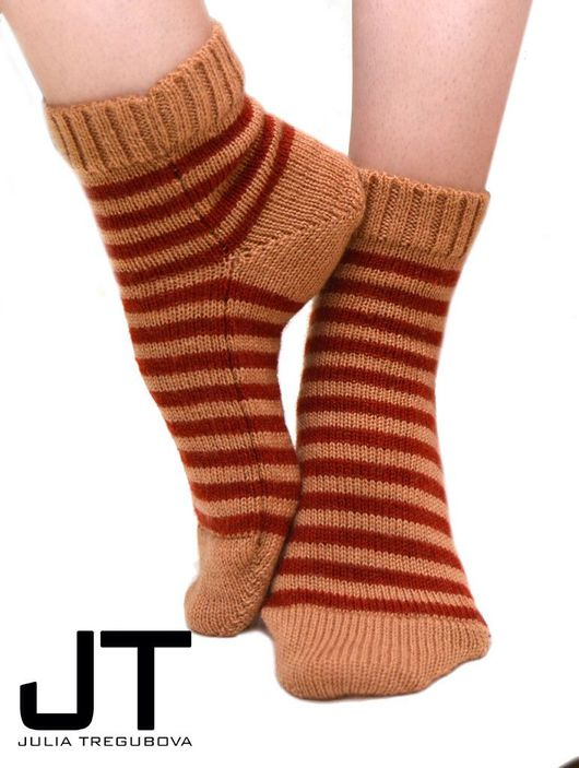 """Носки, Чулки ручной работы. Ярмарка Мастеров - ручная работа. Купить Носки демисезонные """"Теплая осень"""". Handmade. носки с орнаментом"""