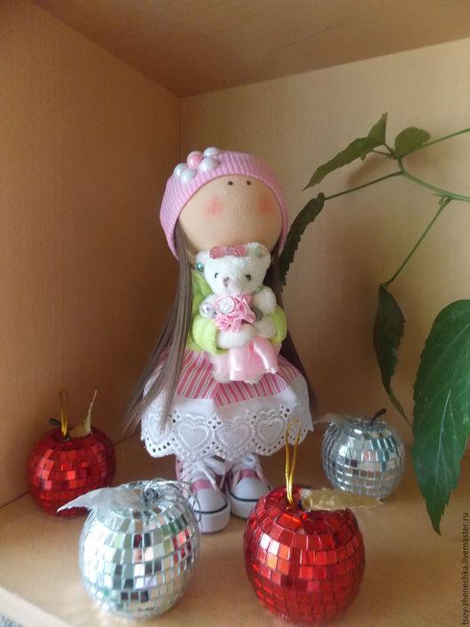 Куклы тыквоголовки ручной работы. Ярмарка Мастеров - ручная работа. Купить Кукла Малышка. Handmade. Розовый, интерьерная игрушка