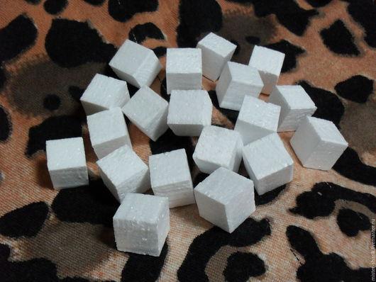 Другие виды рукоделия ручной работы. Ярмарка Мастеров - ручная работа. Купить Кубики из пенопласта. Handmade. Белый, пенопластовые заготовки