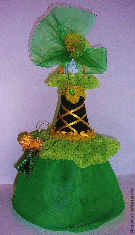 Подарочное оформление бутылок ручной работы. Ярмарка Мастеров - ручная работа. Купить Одежда на бутылку шампанского. Handmade. Зеленый