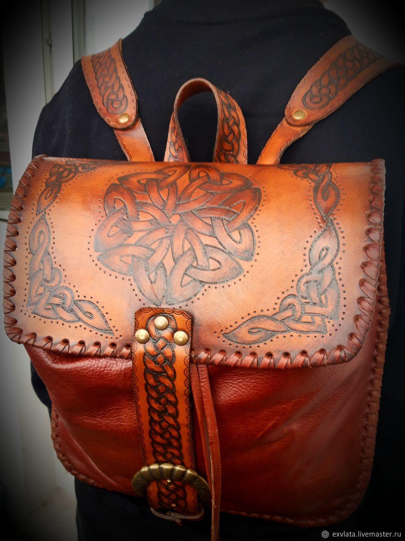 Рюкзак кожаный женский КАШТАН, Рюкзаки, Москва,  Фото №1