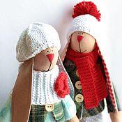 Куклы и игрушки ручной работы. Ярмарка Мастеров - ручная работа Тильды Зайки Валюша и Петенька. Handmade.