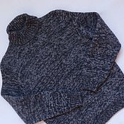 Работы для детей, ручной работы. Ярмарка Мастеров - ручная работа Меланжевый свитер для мальчика (рост 134-140 см). Handmade.