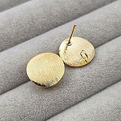 Материалы для творчества handmade. Livemaster - original item Studs stud earrings gold 12 mm (3731). Handmade.