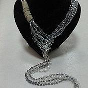 Украшения handmade. Livemaster - original item Crystal and suede tie necklace. Handmade.