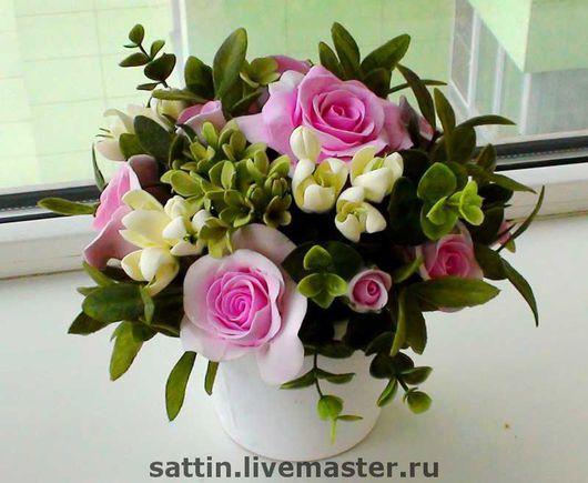 """Цветы ручной работы. Ярмарка Мастеров - ручная работа. Купить Букет """"Нежность"""". Handmade. Розы, интерьерная композиция"""