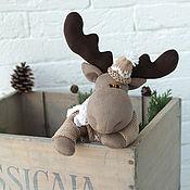 Куклы и игрушки handmade. Livemaster - original item Moose Olav. Interior toy.. Handmade.
