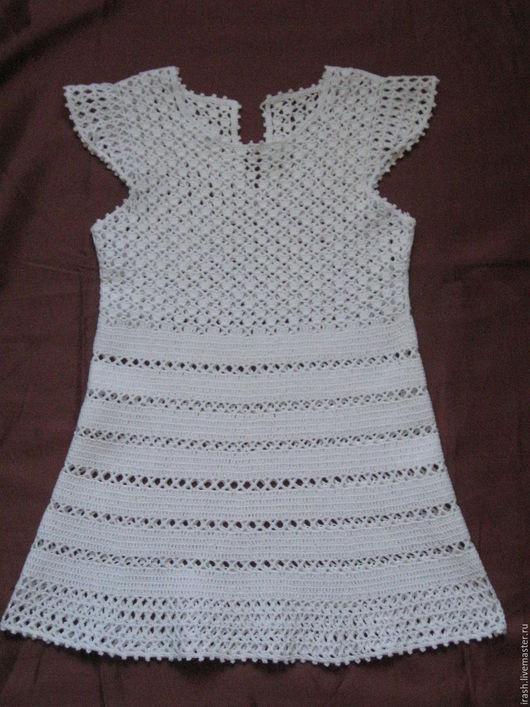 Платья ручной работы. Ярмарка Мастеров - ручная работа. Купить Платье для девочки крючком. Handmade. Платье вязаное, на девочку