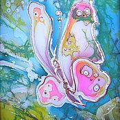 Картины и панно ручной работы. Ярмарка Мастеров - ручная работа Бабочка.Полет.. Handmade.