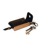 Сумки и аксессуары handmade. Livemaster - original item Leather housekeeper-BREATLEY-black leather and wood housekeeper. Handmade.
