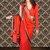 Одежда ручной работы. Ярмарка Мастеров - ручная работа Вечернее платье-сари. Handmade.