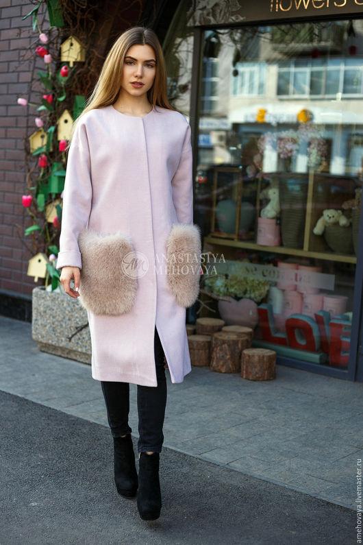 Верхняя одежда ручной работы. Ярмарка Мастеров - ручная работа. Купить Пальто. Handmade. Бледно-розовый, кашемировое пальто, песес