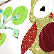 Для дома и интерьера ручной работы. Ярмарка Мастеров - ручная работа Бортики-подушки  детскую кроватку +кармашки. Совы. Handmade.