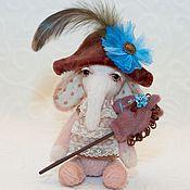 """Куклы и игрушки ручной работы. Ярмарка Мастеров - ручная работа Слоник """"Маленький Мюнхаузен"""". Handmade."""