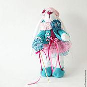 Куклы и игрушки ручной работы. Ярмарка Мастеров - ручная работа зайка в бирюзовом. Handmade.