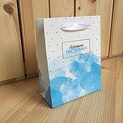 """Пакеты ручной работы. Ярмарка Мастеров - ручная работа Бумажный пакет """"Хорошего настроения"""". Handmade."""
