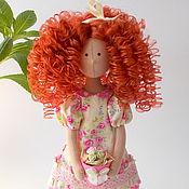 Куклы и игрушки ручной работы. Ярмарка Мастеров - ручная работа Арина. Текстильная интерьерная рыжеволосая кудрявая кукла. Handmade.