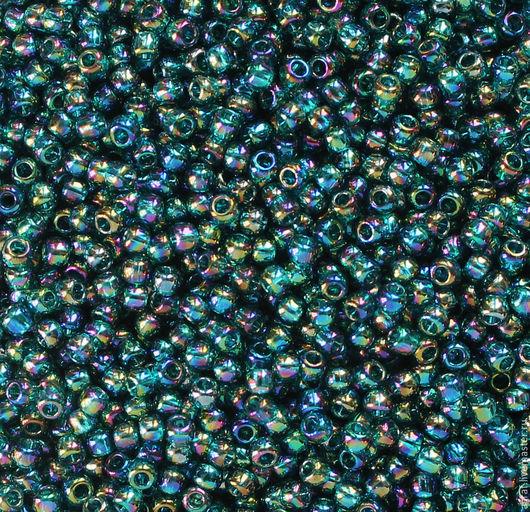 Для украшений ручной работы. Ярмарка Мастеров - ручная работа. Купить Круглый 11/0 TOHO167 BD Blue Zircon Transparent Rainbow  бисер. Handmade.