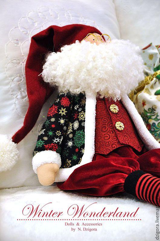 Новый год 2017 ручной работы. Ярмарка Мастеров - ручная работа. Купить С приветом из Лапландии! Санта Клаус, подарок на Новый год. Handmade.