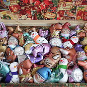 Подарки к праздникам ручной работы. Ярмарка Мастеров - ручная работа Ассорти елочных игрушек с пряничным ароматом. Handmade.