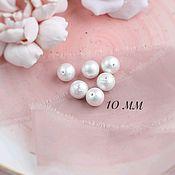 Бусины ручной работы. Ярмарка Мастеров - ручная работа Хлопковый жемчуг  10 мм Белый, жемчуг хлопковый японский. Handmade.