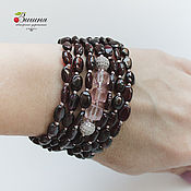 Украшения handmade. Livemaster - original item Silver Garnet bracelet 925 Silver Natural stones. Handmade.