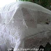 Для дома и интерьера ручной работы. Ярмарка Мастеров - ручная работа Постельное белье с вышивкой и кружевом. Handmade.