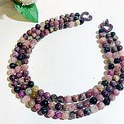 Украшения handmade. Livemaster - original item necklace of tourmaline. Handmade.