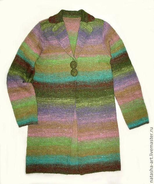Кофты и свитера ручной работы. Ярмарка Мастеров - ручная работа. Купить Кардиган из Noro. Handmade. Салатовый, кардиган, шёлк