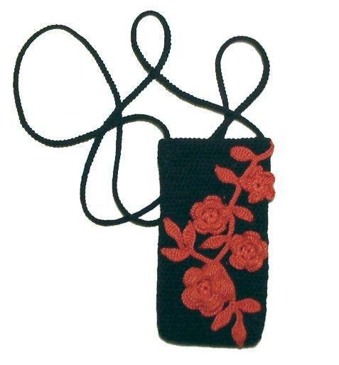 Для телефонов ручной работы. Ярмарка Мастеров - ручная работа. Купить Чехол для мобильного с красными цветами. Handmade. 100% хлопок