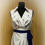 Одежда ручной работы. Ярмарка Мастеров - ручная работа Летнее платье в полоску. Handmade.