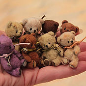 Куклы и игрушки ручной работы. Ярмарка Мастеров - ручная работа Мишки-малышки))). Handmade.