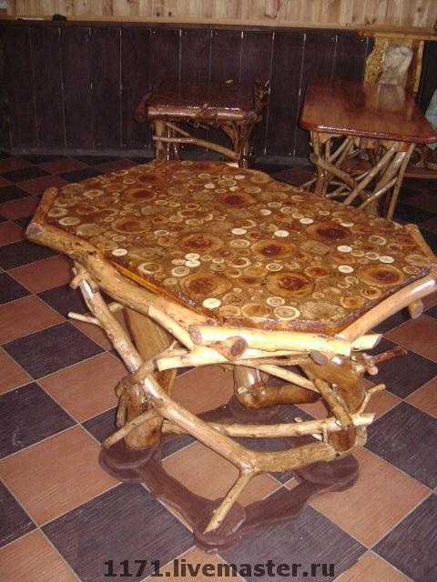 Мебель ручной работы. Ярмарка Мастеров - ручная работа. Купить стол яблоня №1. Handmade. Дерево, авторская ручная работа