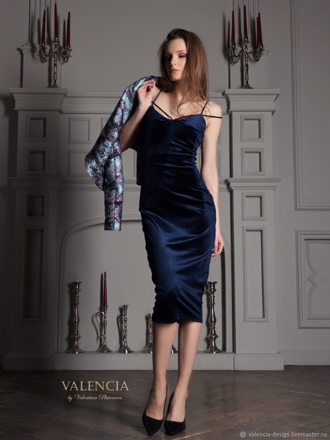Isabel's dress of Italian velvet with signature straps, Dresses, Moscow,  Фото №1