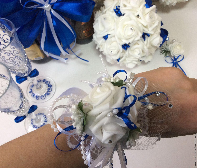 Бутоньерка на руку для подружки невесты мастер класс
