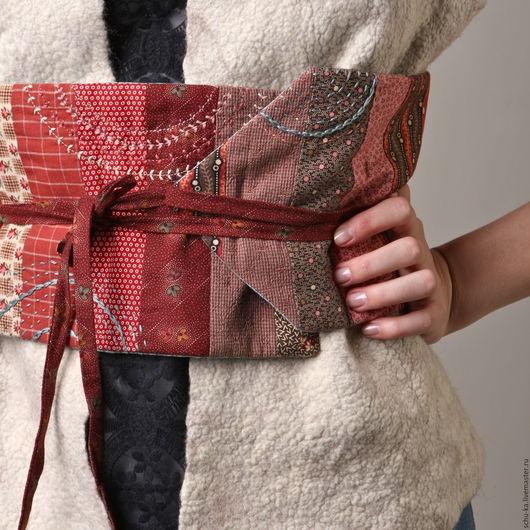 пояс ручной работы - прекрасно смотрится с жилетом, жакетом, платьем и джинсами